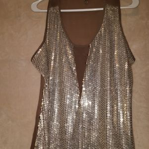 gorgeous sequin front top